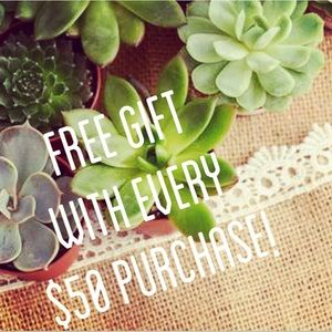 FREE GIFT WITH ANY $50 PURCHASE